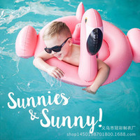 Wholesale Wholesales Environmental Protection PVC Inflatable Swim Rings Children Baby Boys Girls Life Buoy Flamingos SafeSwimming Rings Baby Life belt