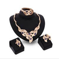 best diamonds online - Online for sale best gift leafs Jewelry Sets necklace bracelet blue gemstone earrings rings K gold jewelry family of four GTOMKS051A
