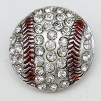 asian baseball - New Baseball snap button jewelry Caharms OEM ODM metal snap button for bracelet