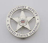 Wholesale United States emblem MARSHAL SUPERVISORY DEPUTY US federal court law enforcement badges Silver
