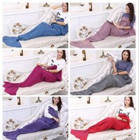 Cheap Europe and the United States and explosion of the mermaid tail knitting blanket blanket Blanket Sofa blanket blanket of air conditioning