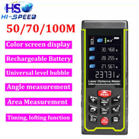 Wholesale Rechargeable Lithium battery Color display with camera m ft Laser rangefinder bubble level distance meter Range finder measure Tool