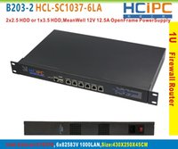 Wholesale HCiPC B203 HCL SC1037 LA c1037 V intel LAN U Firewall BareBone