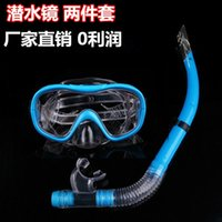 Wholesale Adult goggles half dry breathing tube Diving snorkelling equipment suit ultra low cost manufacturers selling