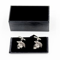 Wholesale Top grade Fashion Greek Warrior Helmet Cufflinks Cuff Links with Gift Box Luxury Men s Fashion