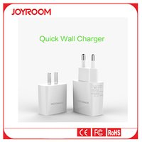 Cheap USB Quick Travel Charger Adapter JOYROOM L102 K2 2.4A Wall AC Power Charger Outlet for Universal Mobile Phone CN US Eu Plug
