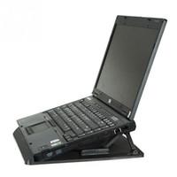 adjustable laptop holder - Ergonomic Adjustable Cooler Cooling Pad With Stand Holder PC Laptop Notebook Color Black