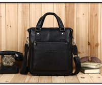 Wholesale Tiger Town GENUINE LEATHER Real cowhide Shoulder men s bag business messenger briefcase Handbag Tote Laptop Purse