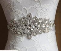 Wholesale Cheap Hand Make Colors Bridal Sashes Belts Free Size Crystal Shinny Elegant Women Belts Ivory White For Wedding Evening Dresses