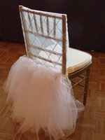 Wholesale Clear Beaded Sash - 2016 Romantic White Tulle Chair Sashes Beaded Chair Covers Luxurious Beautiful Wedding Decorations Elegant Wedding Supplies C01