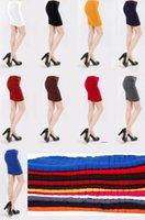 Wholesale 2016 New Hot High Waist Women Skirt Fashion Candy Color Slim Skirt Elastic Pleated Plus Size Skirt For Women