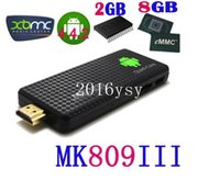 Wholesale RK3188 TV Dongle MK809 III Quad Core Android GB GB GHz Bluetooth WiFi MK809III Android TV Box