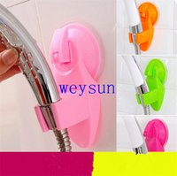 Wholesale Home Bathroom Vacuum Holder Wall Suction Cup Wall Mount Adjustable Shower Head Holder