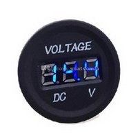 Wholesale 12V V Car Motorcycle LED DC Digital Display Voltmeter Waterproof Meter M00100 OST