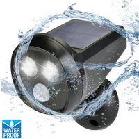Wholesale 3W Degree Rotation LED PIR Motion Sensor Solar LED Outdoor Wall Lamp Night Light