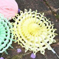 Wholesale 2016 New Wedding Decorations quot Snowflake Paper Fans Tissue Paper Fan Crafts Party Decorations Flowers Wedding Supplies