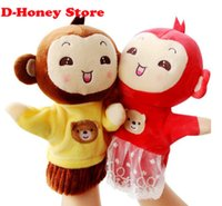 animation education - 2016 new Hand puppet Animation Cartoon cm monkey mickey mouse pooh finger Plush education kids toys