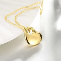 Wholesale Women Fashion Charm Jewelry Love Heart Gold Pendant Chain Necklace Gift Womens For Clothing Accessories