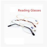 Wholesale Metal magnfier reading glasses metal presbyopic glasses fashion slim reading glasses