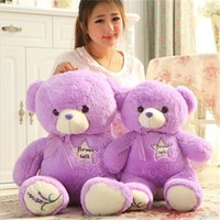 beautiful teddy bears - Teddy Toys Giant Plush Cure Toys Good Children Gifts Short Plush Purple Flower Talk cm Beautiful Girls Gifts