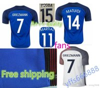 Wholesale AAA France Jerseys Thai Quality Shirts Euro Cup Mens Uniforms GRIEZMANN PAYET POGBA Jersey