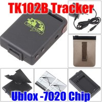 Wholesale 25 discount TK102B Ublox chip mA standby three days SOS alarm low battery alarm GPS Tracker for Car Pet Child Older