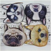Wholesale 2016 Women Coin bag Purses Wallet Ladies D Printing Cats Dogs head Zipper Mini change Bag key bag ZA0069