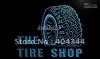 auto repair shop sign lighted - LM121 TM Tire Shop Car Auto Repair Beer Neon Light Sign Advertising led panel