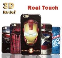 Acheter Protection téléphone cellulaire-3D relief peu souple souple de protection en silicone souple cas cas de téléphone cellulaire couvrir pour Apple iphone 6 6s plus + style de mode Superman DHL Free