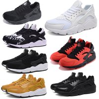 Wholesale Summer Original Air Mesh Huarache Run Sneakers Men women White Black Red Colors Print Casual Running Shoes with Original Box Wholesell