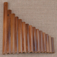 Wholesale Professional Pan Flute Pipes Item Woodwind Flauta G Key Curved Handmade Bamboo Panpipes Musical Instrument Panflute Music Hot