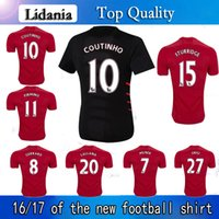 Wholesale 16 home and away in the premier league season jersey custom football shirts with short sleeves gerrard football clothes