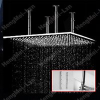 big rain shower - shower spray head bathroom mm stainless steel square ceiling over head big rain shower head with shower arms