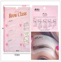 Wholesale Eyebrow Stencils Tool Makeup Eye Brow Template Shaper Make Up Tool Styles Grooming Brow Painted Model Stencil Kit Shaping DIY Beauty