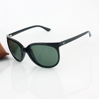 big black cats - 2016 Top Brand Fashion Cat Eye Big Frame Sunglasses Designer Women Acetate Frame Polyurethane Gradient Lens mm Original Case Box