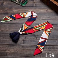 Wholesale Multi Patterns Scarf Fashion Women Scarf Headband Velvet Chiffon Retro Floral With PU Tassel kinds available