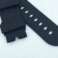 Wholesale 24mm mm mm fashion Black Silicone Rubber Water proof PAM Band Strap for PAM LUNMINOR RADIOMIR Watch