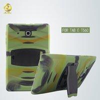 anti shock body - Full body Anti Shock Hybrid Defender Armor Robert Stand Cover Case Built in Screen Film Guard For Samsung Galaxy Tab E T560 T560C02