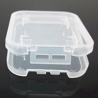 Wholesale Memory Card Case Plastic Case Memory Card Plastic Storage Case Holder Retail Package TF Card Packing Transparent Storage Case