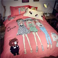 bedding sets suppliers - DY sl Cartoon Figure Pink Bedding Suppliers Sets For Young Girls Hot Sale A Large Number Of Spot