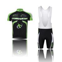 Revisiones Ciclismo camisa de mérida-¡¡al por mayor!! Ropa de ciclo de la bici de Jersey de la bici del jersey del cortocircuito del desgaste de ciclo del verde del merida de los hombres