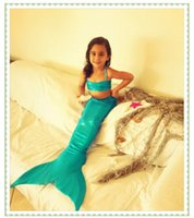 Wholesale Kids Mermaid Tails Children Dress Mermaid Kids Costume Fantasia Princess Bikini Swimsuit Girl Swimming Mermaid Tail Swimwear without FIN