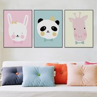 baby lions pictures - Modern Kawaii Animals Lion Canvas A4 Poster Print Cartoon Nursery Wall Art Picture Kids Baby Room Decor Canvas Painting No Frame
