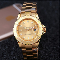 automatic digital - Hot luxury fashion brand automatic date mens wristwatch women stainless steel strap belt movement men s dress quartz clock men watch