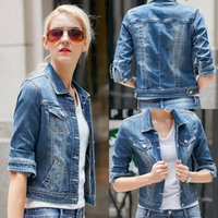 best jeans women - New High Quality Ladies Denim Jackets Outwear Jeans Coat Classical Jackets Women Best Match Fashion Jeans Coats Vintage Female Jackets