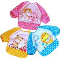 bay pics - 2016 NEW fahion pic Baby All waterproof anti dressing gown bibs bay apron baby bibs waterproof clothes newborns apron TKSJ64