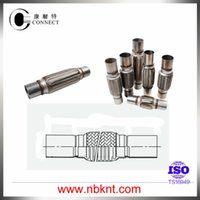 auto universal joint - Auto exhaust system parts A S universal stainless steel flexible exhaust joints pipe type with double nipples with inner braid