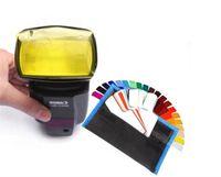 Wholesale 20pcs Selens SE CG20 Flash Gel Color Filters For Metz Godox D7100 SB910 Speedlite Speedlight Flashgun Lighting Control Modifier There Are Ca