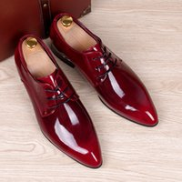 animal print dress shoes - mens business wedding work dress bright genuine leather shoes point toe oxford shoe lace up Korean fashion Zapatos Hombres man