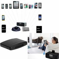 al por mayor ipad acoplamiento negro-Audio Receptor de música Bluetooth A2DP Music Audio Adaptador de 30 pines para iPod iPhone iPad Speaker Dock Negro
